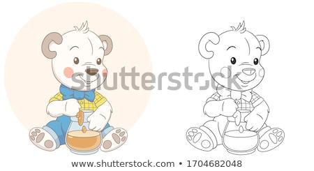 сладкие блюда книжка-раскраска Cartoon иллюстрация группа Сток-фото © izakowski