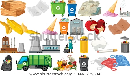 Collection of pillution themed objects Stock photo © bluering
