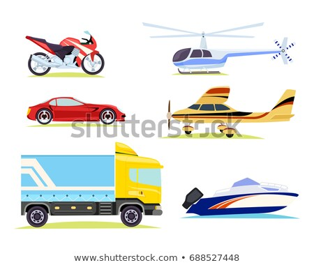 means of transportations collection on white stock photo © robuart