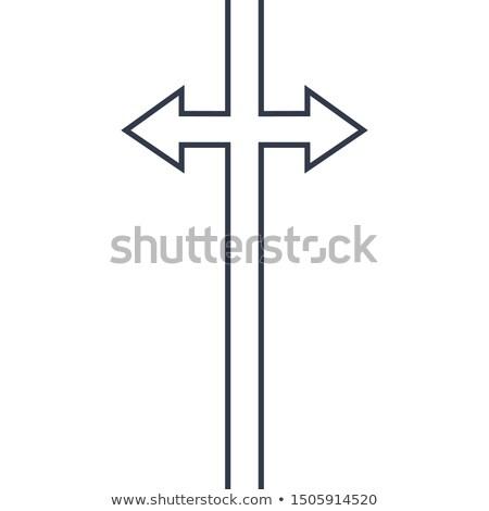 Soyut ok işareti hat çizim ikon web sitesi Stok fotoğraf © kyryloff