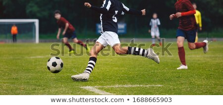 azul · branco · esportes · futebol - foto stock © matimix