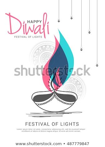 Feliz diwali venda promoção decorativo bandeira Foto stock © SArts