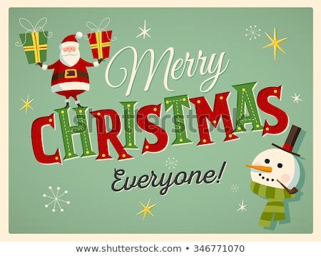 Stock fotó: Szép · tipográfia · karácsonyi · üdvözlet · absztrakt · vektor · sablon