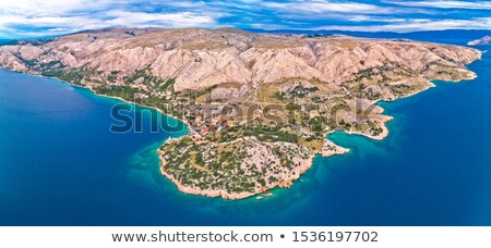 stara baska aerial panoramic view of stara baska village and st stock photo © xbrchx
