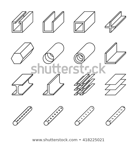 square tubes metallurgical icon vector illustration stock photo © pikepicture