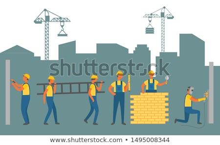 строителя · лопата · Cartoon · иллюстрация - Сток-фото © robuart