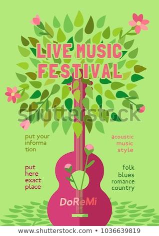 Musical festiwalu zaproszenie wektora szablon muzyki Zdjęcia stock © barsrsind