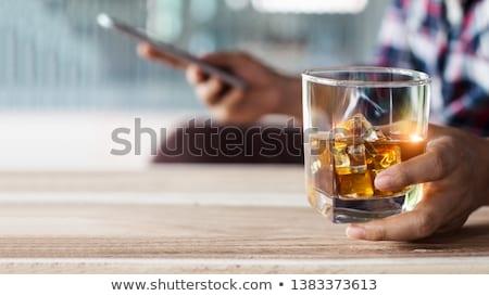 Amigos bebidas noche casa amistad Foto stock © dolgachov