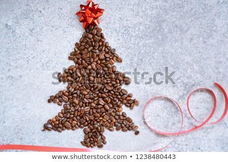 コーヒー豆 黄麻布 先頭 表示 ストックフォト © mizar_21984
