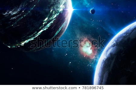 Cosmic landscape, beautiful science fiction wallpaper. Elements of this image furnished by NASA Stock photo © NASA_images