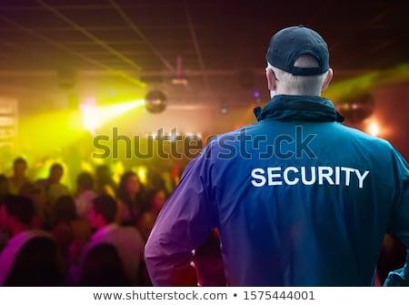 Masculino segurança oficial em pé boate Foto stock © AndreyPopov