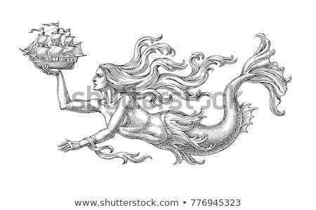 beautiful siren in the ocean Stock photo © adrenalina