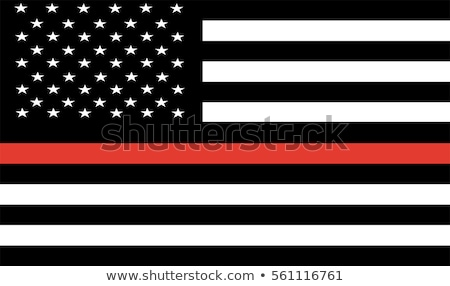 Politie brandweerman Amerikaanse vlag illustratie vector Stockfoto © enterlinedesign