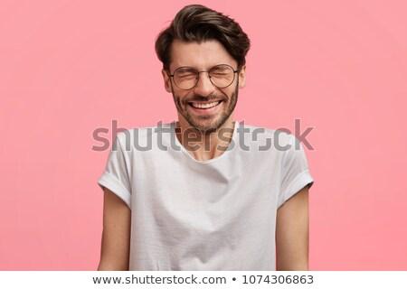 радостный улыбаясь бородатый человека счастливым темно Сток-фото © vkstudio