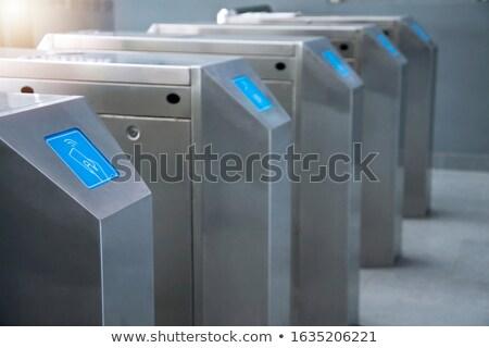 Automatisch rij metaal metro kaart poort Stockfoto © magraphics