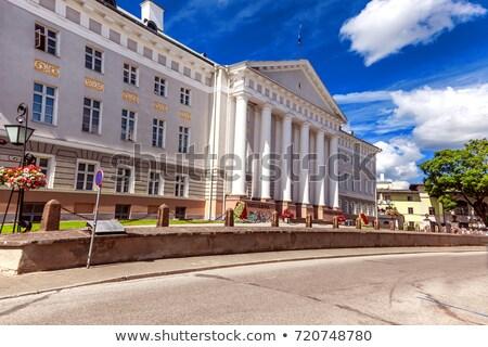 Egyetem fő- épület Észtország város utazás Stock fotó © borisb17