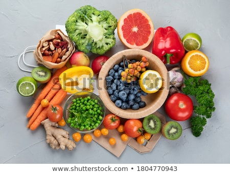 Natural products rich in antioxidants and vitamins Stock photo © Illia