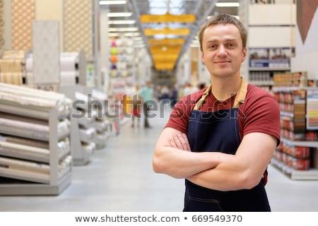 Hardware store werknemer werk man mannen Stockfoto © Lopolo