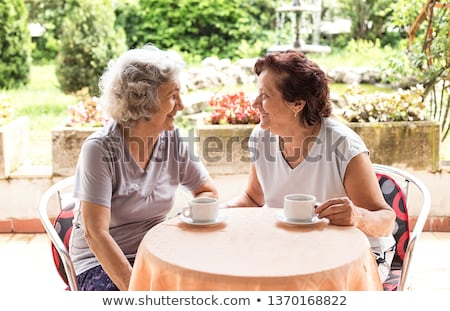 Active retirement, two senior woman Stock photo © simazoran