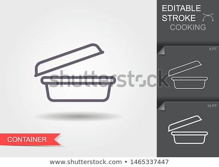 boxes trays icon vector outline illustration Stock photo © pikepicture
