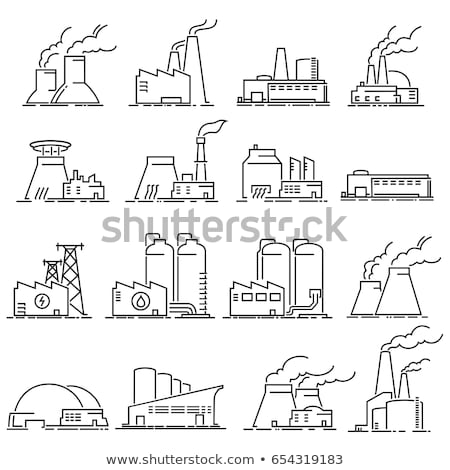 nuclear power plant icon vector outline illustration Stock photo © pikepicture