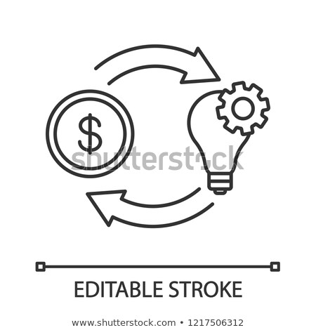 Crowdfunding icon, fundraising and venture fund funding logo, st Stock photo © gomixer