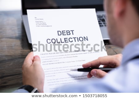 Man Reading Debt Collection Letter Stock photo © AndreyPopov