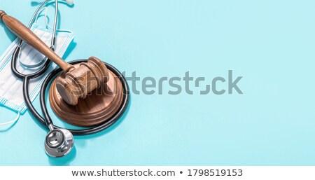 Medical masks for protection from illness, medicine background.  Stock photo © artjazz