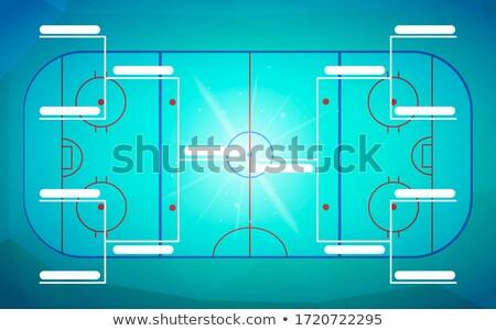 トーナメント テンプレート チーム 青 ホッケー フィールド ストックフォト © evgeny89
