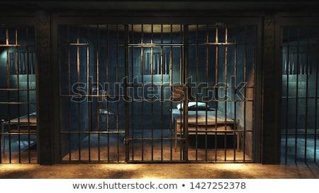 3D prisioneiro trancado gaiola ilustração isolado Foto stock © 3dmask