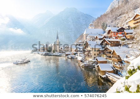 Panorama of Hallstatt village and Hallstatter See, Austria Stock photo © dmitry_rukhlenko