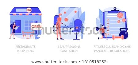 Fitness résumé affaires sociale propre équipement Photo stock © RAStudio