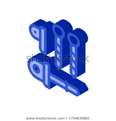 Belay Rappel Alpinism Sport Equipment isometric icon Stock photo © pikepicture