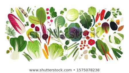 Alface vegetal completo matéria-prima salada casa Foto stock © Ansonstock