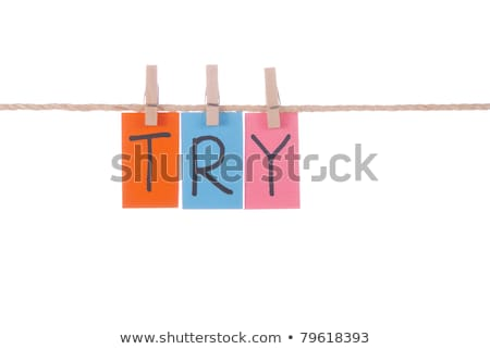 Try, Wooden peg  and colorful words Stock photo © Ansonstock