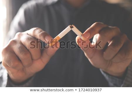 cigarro · ilustração · branco · projeto · fumar · assinar - foto stock © cidepix