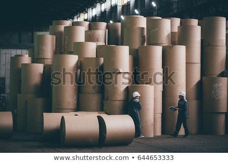Stock photo: many paper`s rolls 2