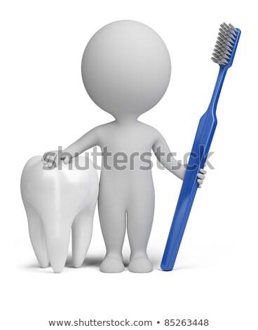 Foto d'archivio: 3D · piccolo · persone · dentista · persona · dente