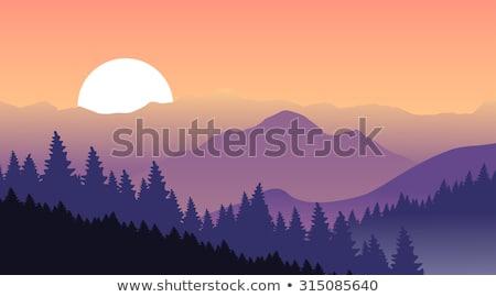 smoky mountain sunrise panorama stock photo © mtilghma
