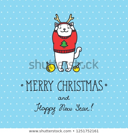 christmas warm card template eps 8 stock photo © beholdereye