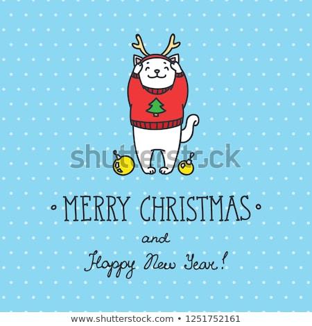 christmas warm card template eps 8 stock photo © beholdereye