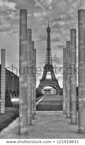 Eiffel béke hdr lövés Eiffel-torony oszlopok Stock fotó © borna_mir