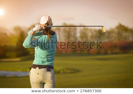 balle · de · golf · femme · club · golf · amusement - photo stock © piedmontphoto