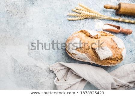 Appétissant maison pain tas roulé groupe Photo stock © simply