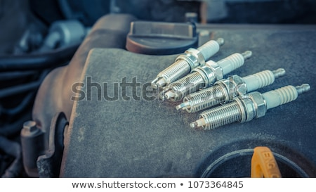 szikra · gyújtás · gázolaj · gép · sérült · papír - stock fotó © keko64