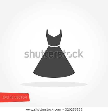 kleding · jurk · iconen · vector · business - stockfoto © stoyanh