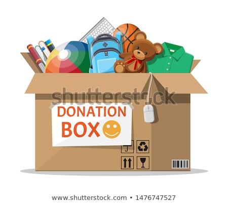 Doação caixa papel em branco ajuda Foto stock © devon