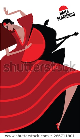 испанский фламенко женщину вентилятор вектора цветок Сток-фото © carodi