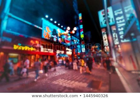 Stad Osaka nacht foto stedelijke Stockfoto © photohome