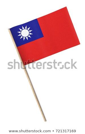 bayrak · Tayvan · soyut · imzalamak · hatları · basit - stok fotoğraf © bosphorus